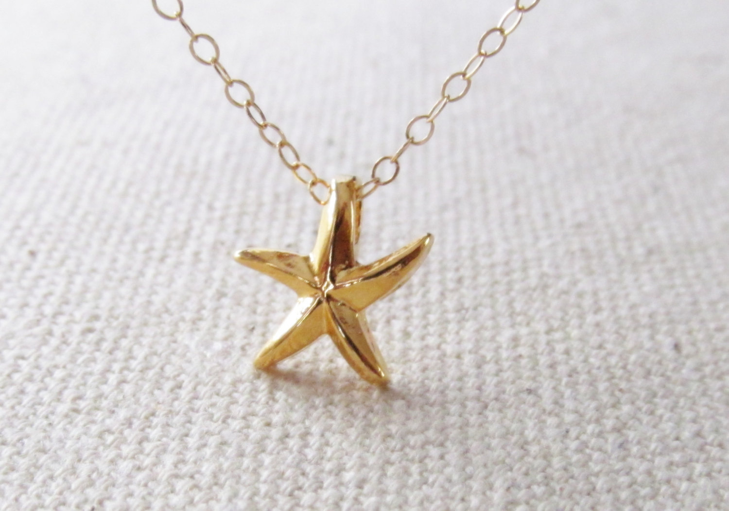 Gold star fish necklace 14kt gold filled necklace gift for Gold fish pendant